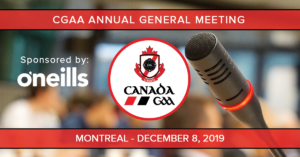 CGAA Annual General Meeting sponsored by O'Neill's @ Best Western Ville Marie, Montreal, QC | Montréal | Québec | Canada