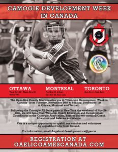 Camogie Week in Canada - Montreal @ TBC | Eastend | Saskatchewan | Canada